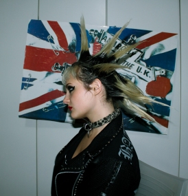 punk girl sex pistols sexy spike hair leather jacket cute choker